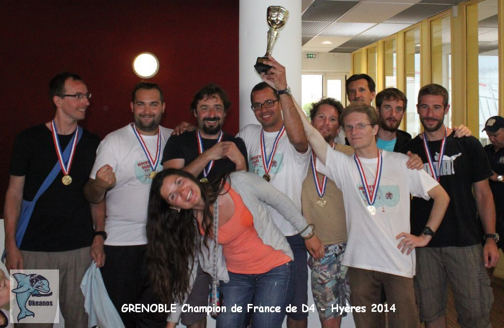 Grenoble champion de France D4 _ Hyères 2014-