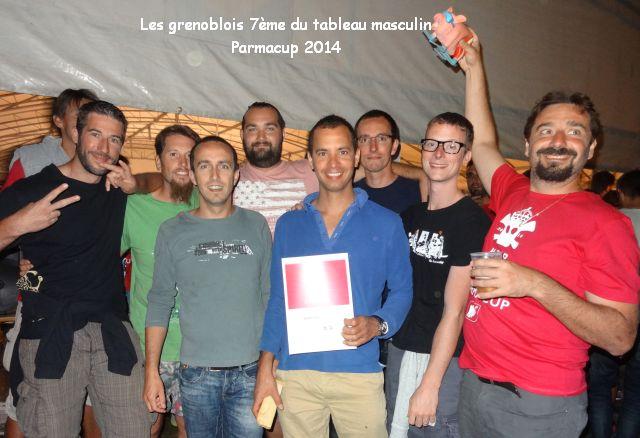 équipe masculine Grenoble-Parmacup2014