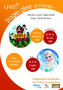 Stages glee_affiche A3