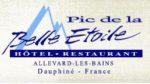Pic de la Belle Etoile – Hôtel Restaurant Allevard