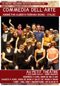 Le Créarc organise un Stage Européen de Commedia dell'Arte